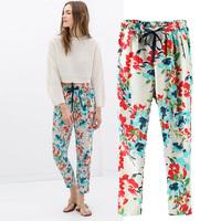2014 New, Loose Fit Printed Ladies Harem Pants