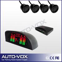 Car parking sensor system reverse backup radar 3 stage warning Alarm Beep with LED Indicator Display  (black,white,silver)