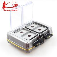 Top Quyality 139g 10*8.5*3.5cm ABS Plastic Fishing Tackle box Fishing Bait Box Waterproof Flies Box Fishing Tool Fishing Tackle