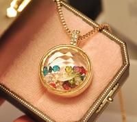 Hot sale fashion perfume drift bottle pendant long necklace  women rhinestone jewelry Free shipping HeHuanXLM002