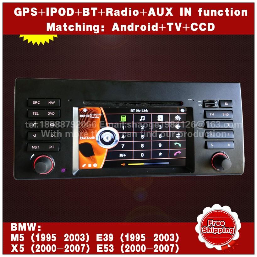 Android 4.0 Car DVD GPS sat nav PIP IPOD Bluetooth stereo for BMW-E39 E53 X5 E38 Free Shipping(China (Mainland))