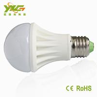 High brightness 5w e27 AC 220v 110v ceramic led bulb with warranty 3 years warm white & cool white wholesale