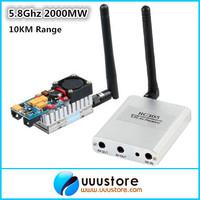 Boscam FPV 5.8Ghz 5.8G 2W 8Ch 2000mW Wireless Audio Video Transmitter AV Sender TS582000 + RC305 Receiver combo