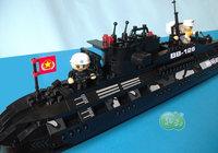 ORIGINAL PACKING New Arrival toy blocks  502 pcs submarine  building blocks model christmas toys for boys birthday gift for boy