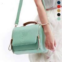 new style women's handbag retro candy color shoulder shield carve patterns bag messenger #0106