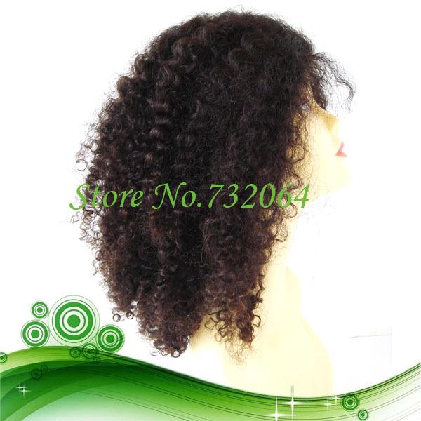 Stock Cheap Virgin women Lace Wigs 100% Virgin Brazilian Hair Afro Wave Lace Front Wigs for black women(China (Mainland))