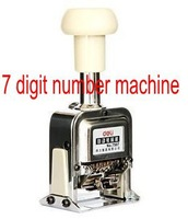 7 Digit Numbering Machine Number Stamp Machine