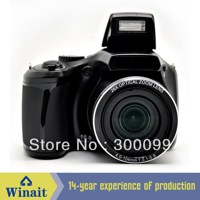 New arrival 16Mp CCD Sensor DSLR Camera Digital Camera with 26X Optical Zoom 5X Digital Zoom 3 inch Screen free shipping(China (Mainland))