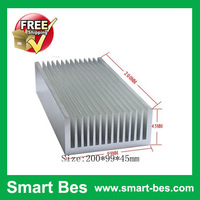 Free Shipping ( 1 piece)extruded aluminum heatsink for LED bulb /200*99*45mm with best price and good service in shenzhen