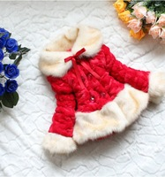 New 2013 !!! Autumn and winter hot-selling classic thickening fur female child outerwear