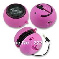 Cheapest  Micro Stereo Hamburger Mini  Speaker Music MP3 Player For MP3 PC Notebook, Portable 3.5MM Speaker Free shipping