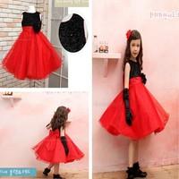 Retail 1sets free shipping top quality!2013 hot selling Girls chiffon princess dress kids tutu dress IN STOCK