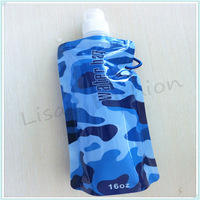 50Pieces Free Shipping! Outdoor drinking bottles  wholesale foldable water bottle, water bottle foldable 480ml(16oz