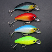New Arrival & Free Shipping! 4Pcs New Crank Fishing Baits Lures plastic lure 8.4g 0.30z 6.5cm 2.6in.