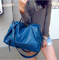 Bags 2013 women's handbag women's casual fashion vintage messenger bag black big bag
