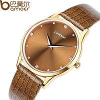 2015 Aliexpress Top Sell SINOBI Brand Leather Strap Watch for Women and Men Fashion Quartz Military Waterproof Wristwatch WA1003