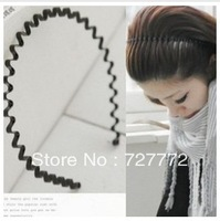 12Pcs/lot Free shipping 2013 black wave shape hair clasp simple metal hair accessories hair hoop headband Hot Sale! one color