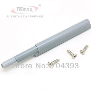 10pcs Plastic Drawer Stops Grey Push to Open System Door Catch Closer Damper Cabinet