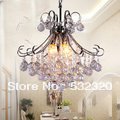 Free Shipping E14 30W 110-240V Decorative Fashion Luxury K9 Crystal Chandelier Vintage Lamp European Lighting  Fixtures