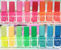 7ml20pcs /Lot Candy Color 20colors Popular Luminous Nail Polish Fluorescent Nail Art nail Enamel