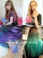 Gradient hair dye stick disposable crayon hair colouring pen senellier soft pastels powder - 12 colors