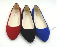 2013 women's casual shoes for womens faux suede flats for womens free shipping S0072