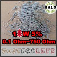 [ Resistor Assorted Kit ] 30valuesX10pcs=300pcs 5% 1W Metal Film Resistor Kit 0.1 Ohm~750 Ohm Commonly Resistor Package
