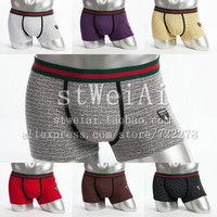 Free Shipping Men's panties clothing print pattern embroidered logo u male panties cool male modal boxer panties trunk 1lot/5pcs