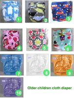 10 color waterproof Older children cloth diaper Nappy nappies diaper diapers (1pcs nappies+1pcs insert) 25-45kg