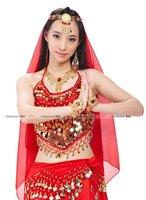 little Peppers  + Long gauze dress + veil belly dance set belly dance Indian dance performances Kit