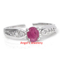 1PC EMS Free shipping ! Natural Ruby Ring, Elegant Real Gem Stone Ring