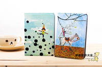 For apple Tablet ultra-thin protective sleeve tide Korea cute cartoon caricature with sleep function meters
