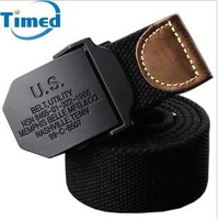 Us canvas belt male Women casual fashion trend of the smooth buckle strap belts