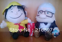 2PCS UP the Movie TV Grandfather & Children Cartoon Stuffed Soft Plush Toy Very Vivid Freeshipping