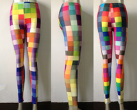 New Arrival !! Wholesale New! 2013 Leggings For Women Colorful Plaids Print Leggings Tights Pants ElasticS106-195