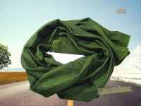 military camouflage mesh scarf Veil Face Mesh Neckerchief 12pcs/lot six colour