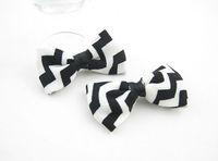 Striped  Bowknot Hairpin  Hair Accessory  Fashion Pretty  HairBands For Girl Women  Pair