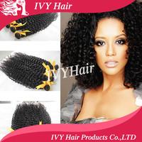 Queen Hair product Brazilian virgin hair afro kinky curly hair bundles 3pcs/lot 100% human hair extension weaves free shipping