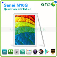 10.1 inch Touch Screen Cortex-A5 Quad Core HDD 4GB Android 4.0 Sanei N10FG Tablet PC 3G Sim Card Slot