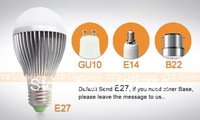 9W  E14 E27 B22 GU10 LED Bulb  Lamp  Dimming Bubble Bulb AC85 - 265V,   Warm / Cool white , 3 * 3W + Free shipping
