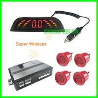 Car Wireless parking sensor 4 sensors Backup Radar 10 colors for Choice #3283