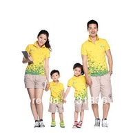 1pcs 4 colors Sales promotion father,mother,boy or girl Parents-children sportwear Family Pack sports T-Shirt Free shipping