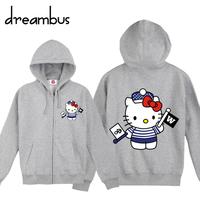 freeshipping /  hot selling hello kitty autumn-summer Hoodies the sports suit sweatshirts women's coats