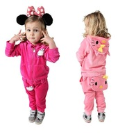 Free shipping ! Wholesale! New Arrival !  Han edition lovely fashion Cotton velvet hello kitty cat suit of the girls