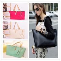 2013 black pu leather big bag famous brand designer style bag .hot selling women's vintage bag one shoulder handbag