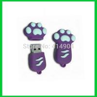 Hot !!!pen drive cartoon cute cat foot 4gb/8gb16gb32gb usb flash drive flash memory stick pendrive gift free shipping