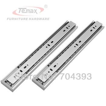 """20"""" Push To Open Drawer Slide Ball Bearing Rebound Furniture Hardware Sliding Track Cabinet Temax Slider"""