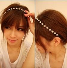 E007 fashion rhinestone noble sweet hair band hair clip, hair jewelry