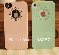 Free shipping Hot New Candy Colors Ultrathin Back Cover Case For iPhone 4/4s (Assorted colors)