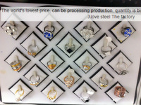 18/pcs Italian design 316 l ring Manufacturers selling wholesale+crystal Free Shipping